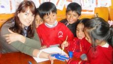 Marta, voluntaria en Perú.