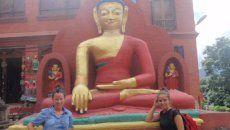 Lukene e Ireide en Katmandú