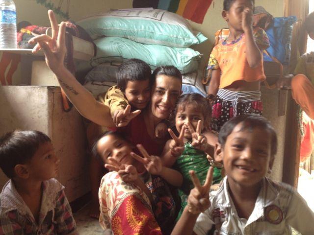 Natalia García, voluntaria en La India
