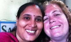 Izaskun, voluntaria en La India