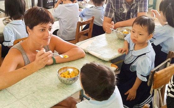 Voluntaria en Vietnam, orfanato