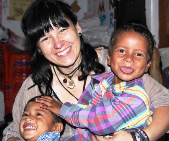 Voluntaria en Nepal