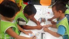 Niños en la escuela - Voluntariado en Tailandia